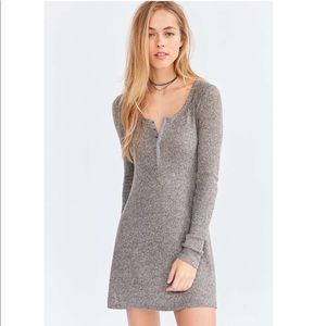 Urban Outfitters Cozy Henley Dress